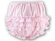 Sarah Louise Baby Girls Pink Ruffle Knickers