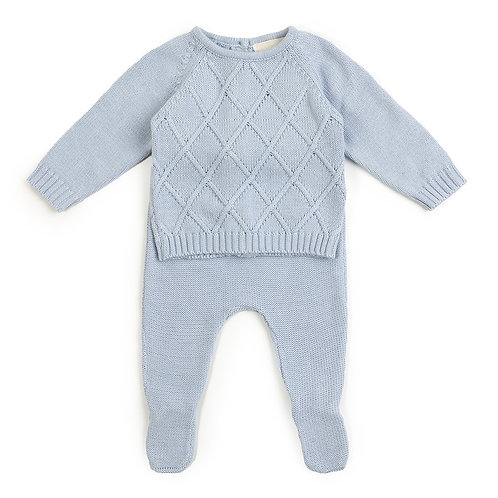 Babybol Baby Boys Pale Blue Knitted Set