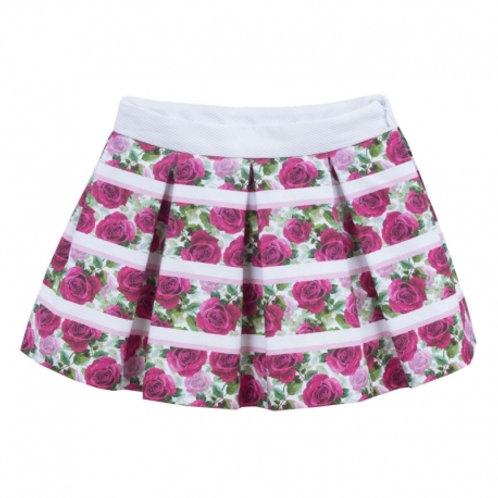 Kiriki Flower Print Girls Skirt