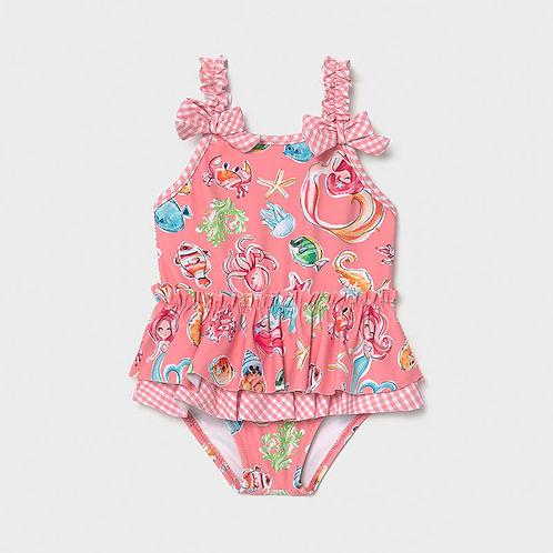 Mayoral Girls Flamingo Print Swimsuit