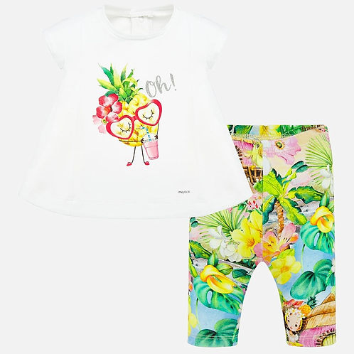 Mayoral Baby Girls Leggings Set