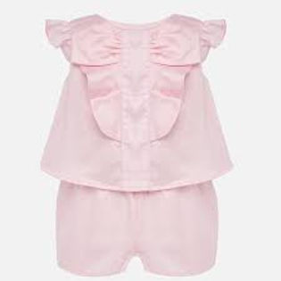 Mayoral Girls Pale Pink Playsuit