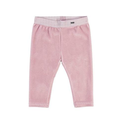 Mayoral Baby Girls Rose Pink Velvet Leggings