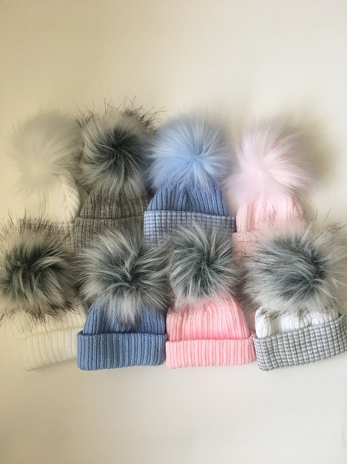 Baby Boys & Girls Pom Pom Hats