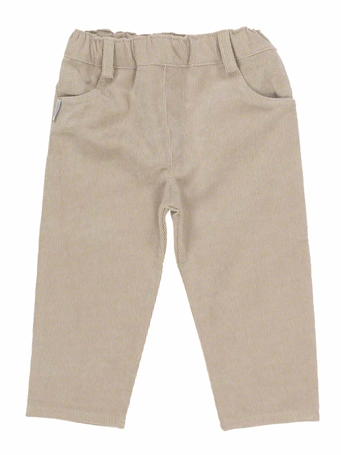 Babidu Boys Camel Coloured Fine Corduroy Trousers