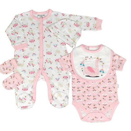 Watch Me Grow Baby Girls Layette Set