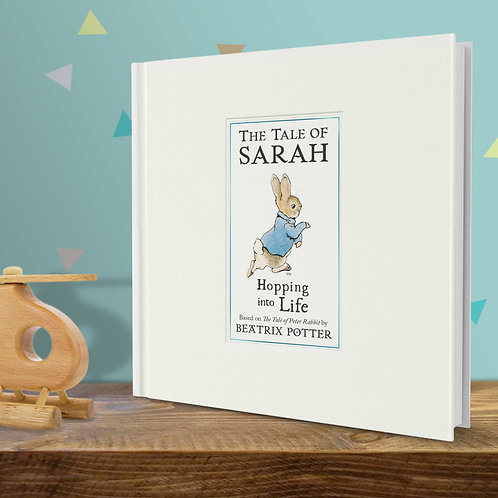 Peter Rabbit Hopping Into Life Personalised New Baby Book