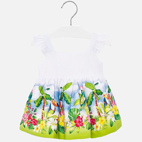 Mayoral Baby Girls Dress with Tropical Print