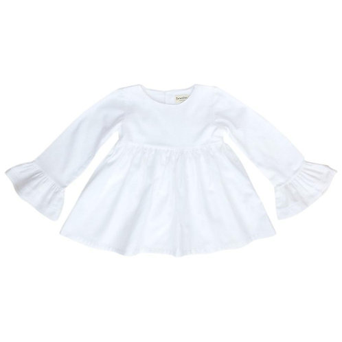 Benedita White Bell Sleeve Top