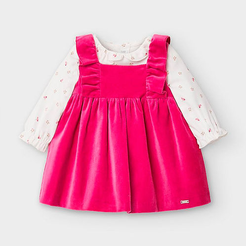 Mayoral Baby Girls Two Piece Top & Pinafore