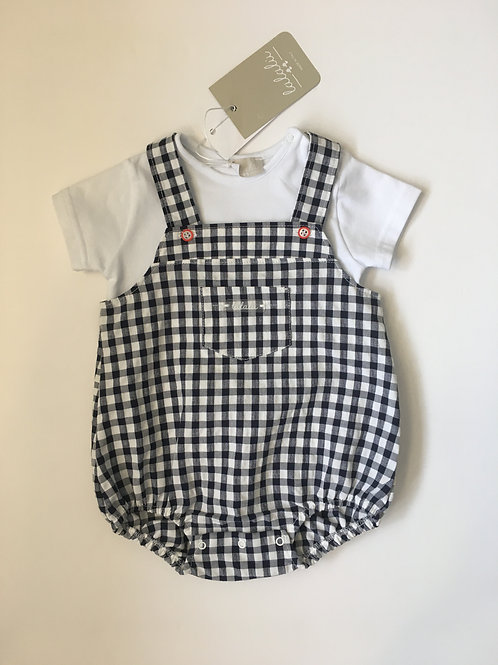 LaLaLu Baby Boys Black & White Check  Shortie