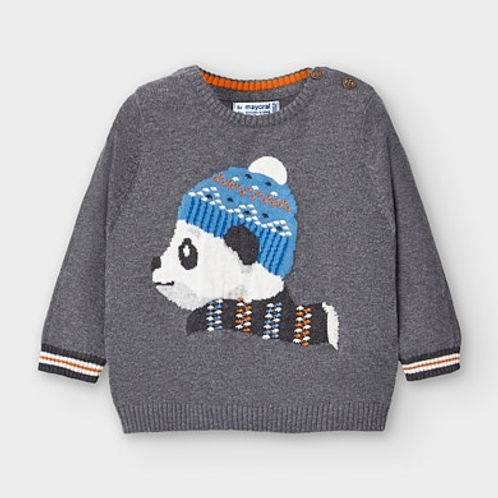 Mayoral Baby Boys Panda Motif Jumper