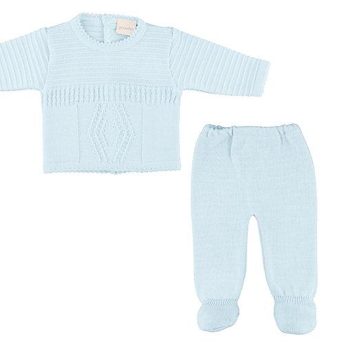 Dandelion Baby Boys Pale Blue Two Piece Set