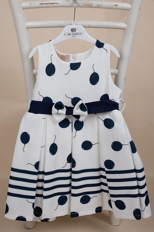 Caramelo Girls Navy & White Balloon Print Dress