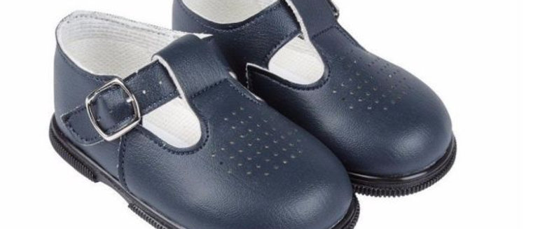 Navy T Bar Shoes