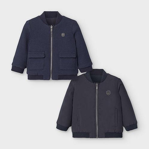 Baby Boys Navy Blue Reversible Jacket