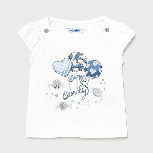 Mayoral EcoFriends Girls Short Sleeve Summer T Shirt