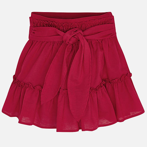 Mayoral Girls Chiffon Feel Red Skirt
