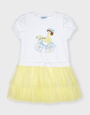 Mayoral Girls Voile Yellow Dress