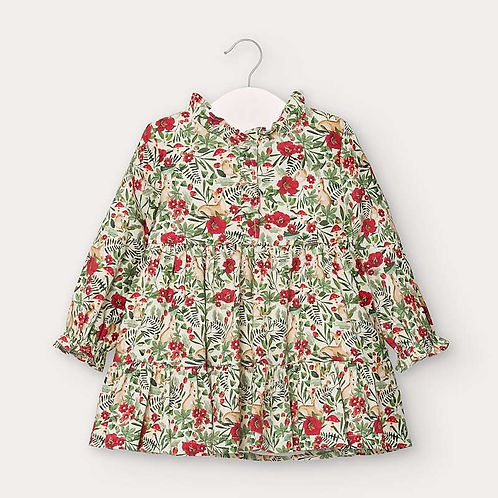 Mayoral Girls Floral Print Dress
