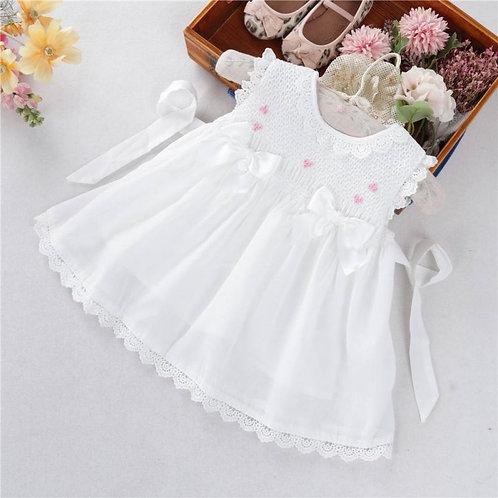 Aurora Royal Girls Smocked Dress