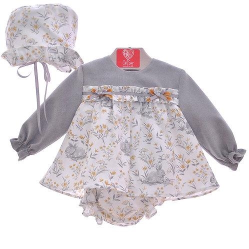 Del Sur Girls Rabbit Print Dress
