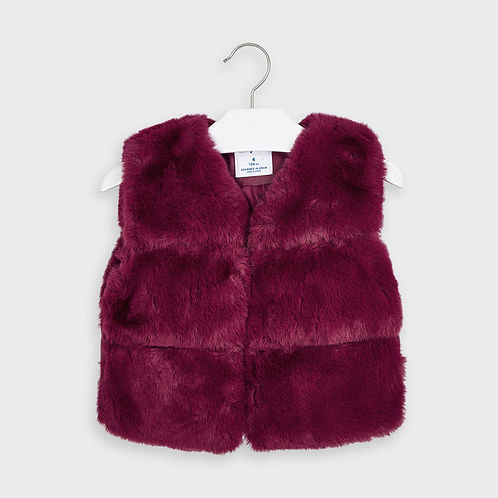 Mayoral Girls Faux Fur Gilet