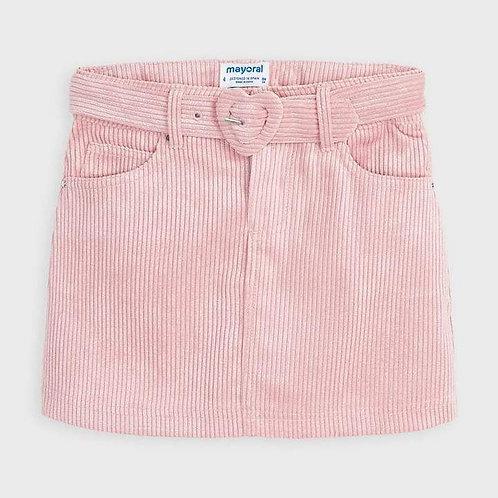 Mayoral Girls Blush Pink & Gold Sparkle Corduroy Skirt