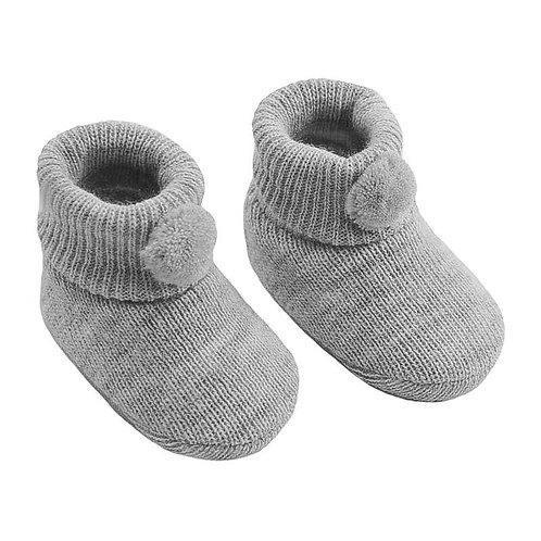 Baby Boys/Girls Grey Bootees