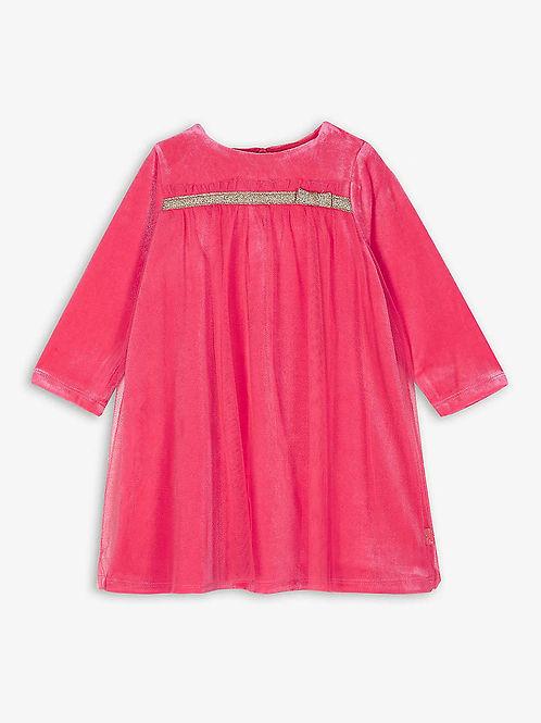 Billieblush Hot Pink Velvet/Tulle Dress