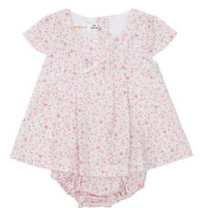 Babybol Baby Girls Floral Print Dress