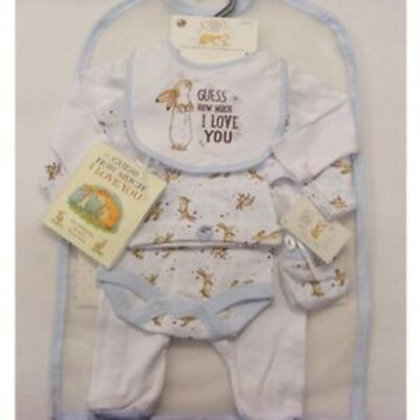 "Baby Boys Layette Set with Book ""Guess How Much I Love You"""