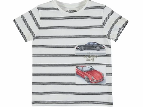 Mayoral Boys Short Sleeve T Shirt with Car Design