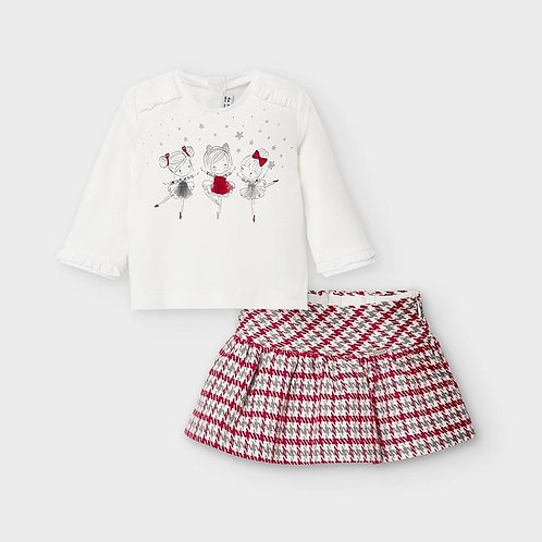 Mayoral Baby Girls Two Piece Skirt Set