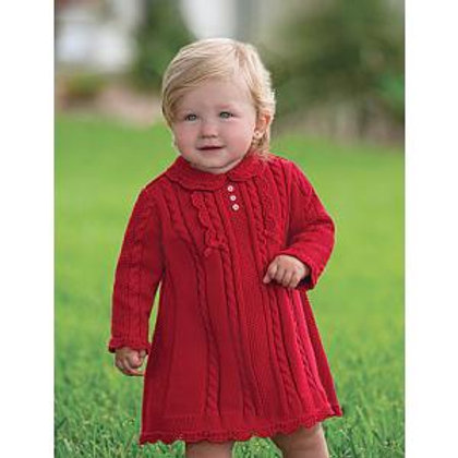 Sarah Louise Red Cable Knitted Dress