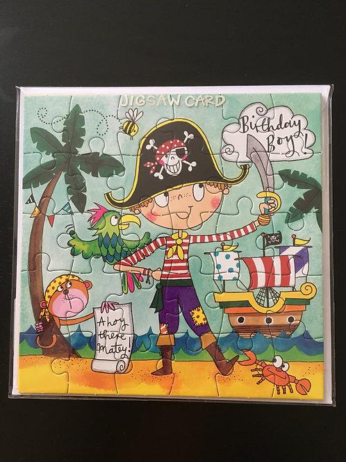 Rachel Allen Boys Pirate Jigsaw Birthday Card
