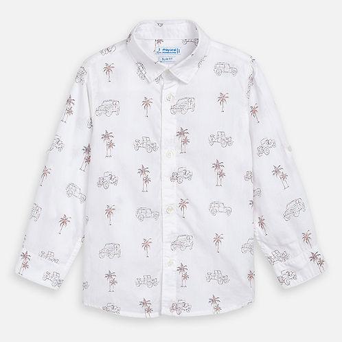 Mayoral Boys Long Sleeve Shirt With Printed Design