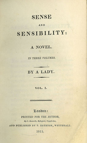 First edition title page from Sense and