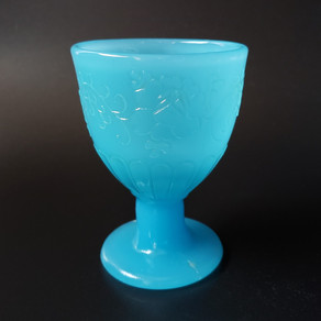 ブルーガラス なつめ型 氷コップ |茶道具買取|骨董買取