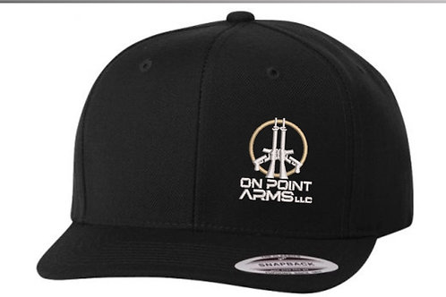 On Point Arms flat bill snapback hat.