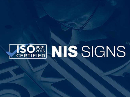 NIS SIGNS awarded ISO9001 for the 11th year in a row!