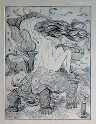 in the slow lane etching marie-noelle va