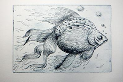 fish 2 etching marie-noelle van berkel-c