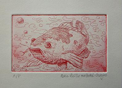fish 1 etching marie-noelle van berkel-c