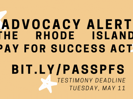 Advocacy Alert: Pass Pay for Success