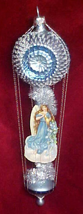 #5512-026 - Wire Wrapped Angel on Reflector Balloon - Blue