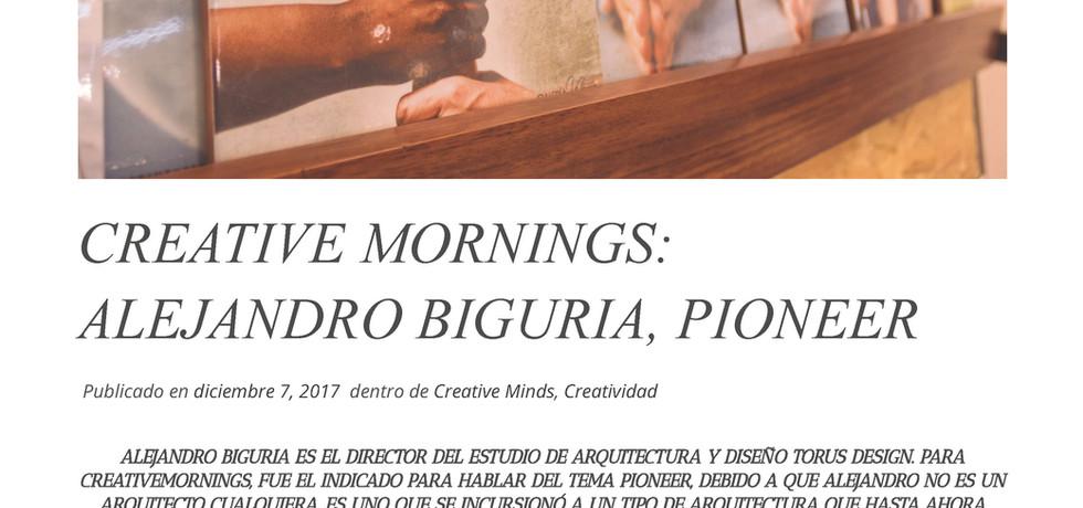 CREATIVE MORNINGS ALEJANDRO BIGURIA
