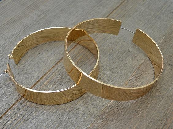 Gold Large Hoop Earrrings