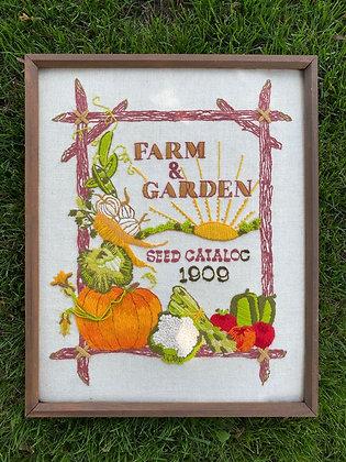 Farm & Garden Embroidery Wall Art