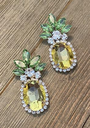 colored pineapple earrings